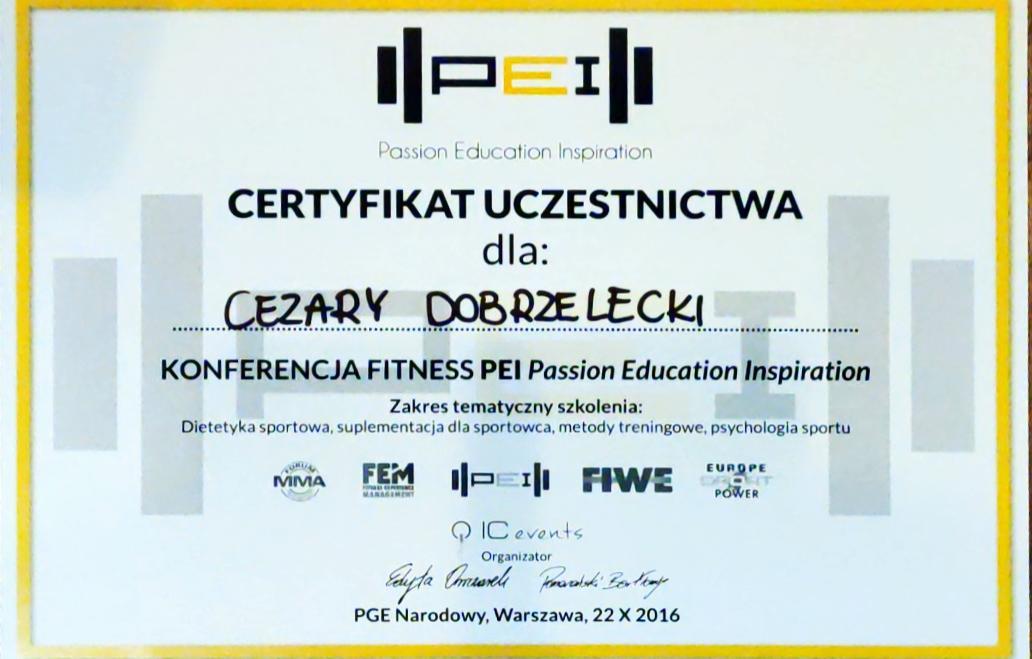 Cezary Dobrzelecki Fitness trener