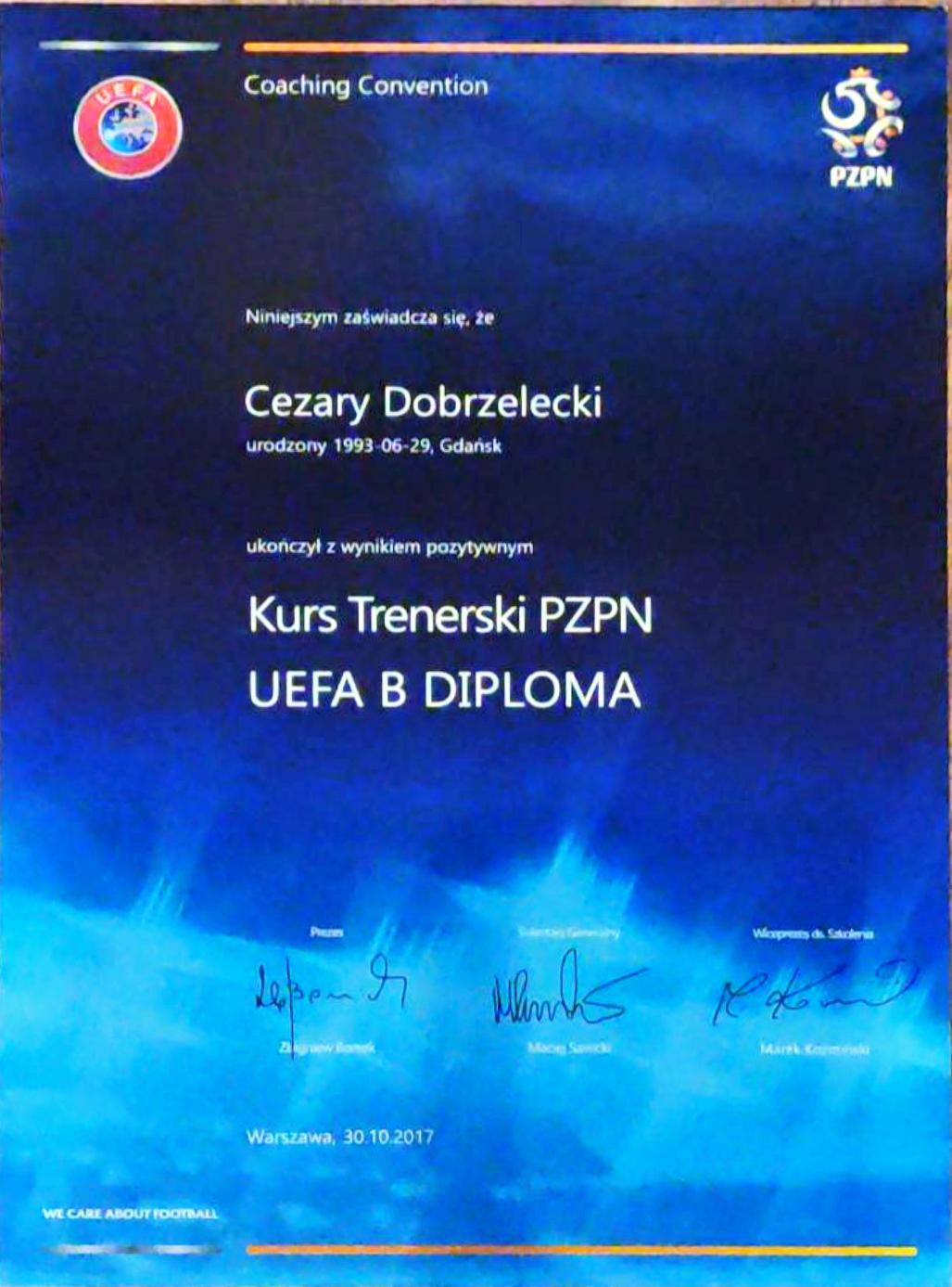 UEFA B trener licencjonowany trener piłki nożnej PZPN Akademia Piłkarska Grassroots