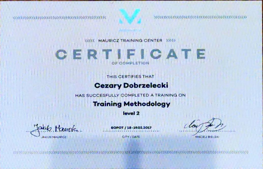 Metodyka Treningu Personalnego poziom II – Mauricz Training Center