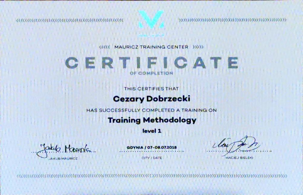 Mauricz Training Center Metodyka Treningu personalnego poziom I
