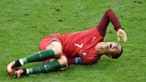 Kontuzja i urazy na treningu piłkarskim