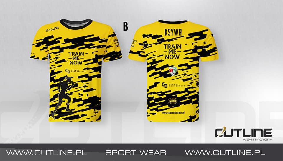 odzież sportowa koszulka na trening TrainMeNow Cutline Wear Factory