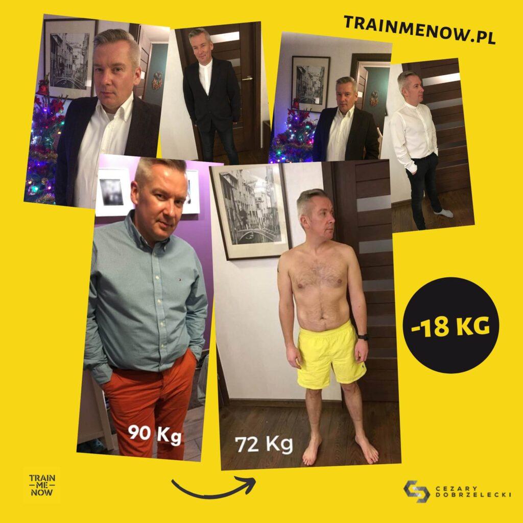 Metamorfoza sylwetka plan treningowy dieta z trenerem
