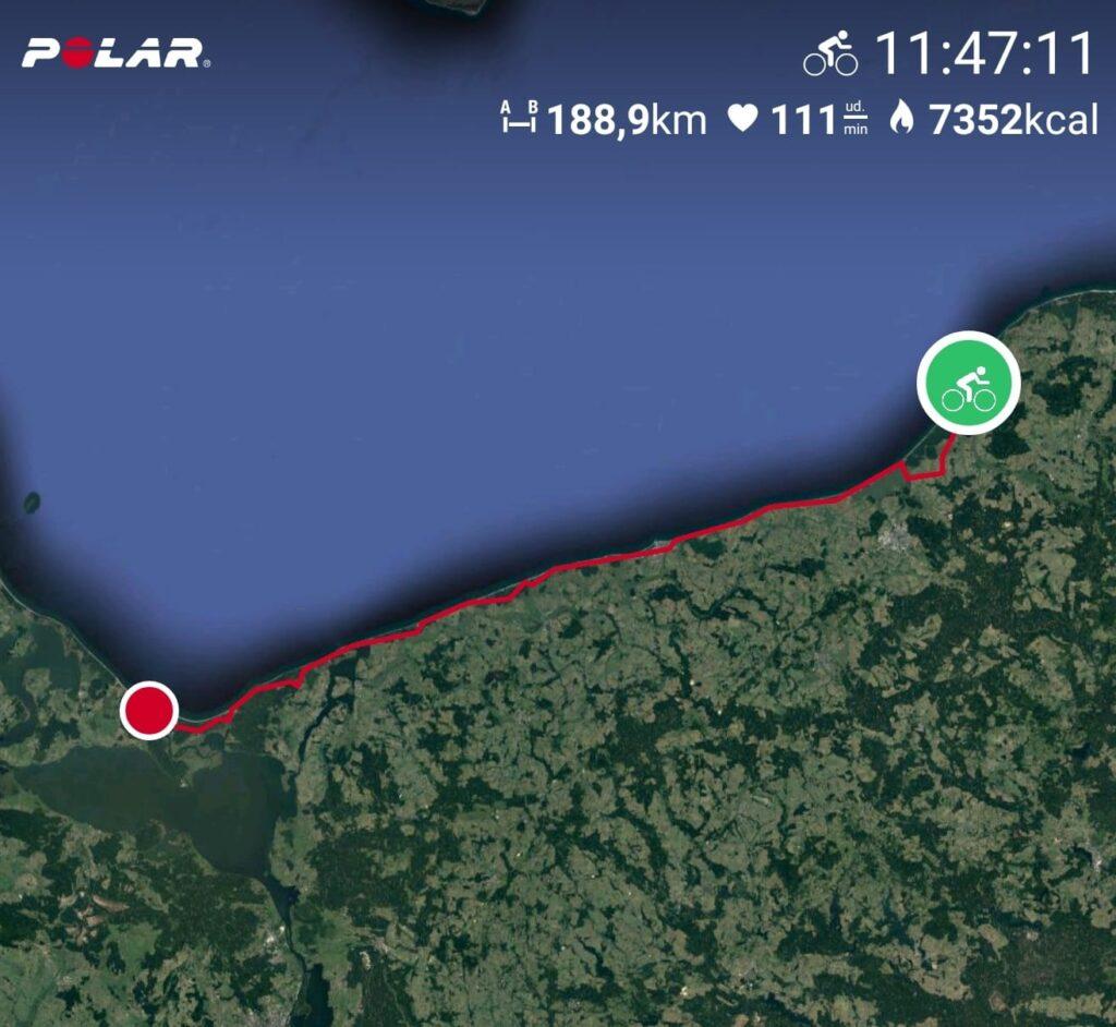 trasa rowerowa wzdłuż Bałtyku mapa Polar