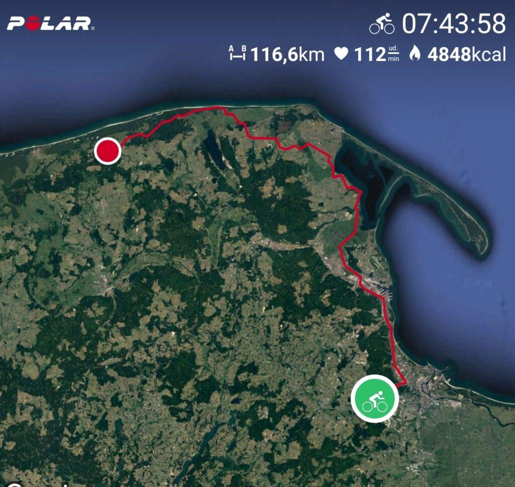 polar trasa GPS