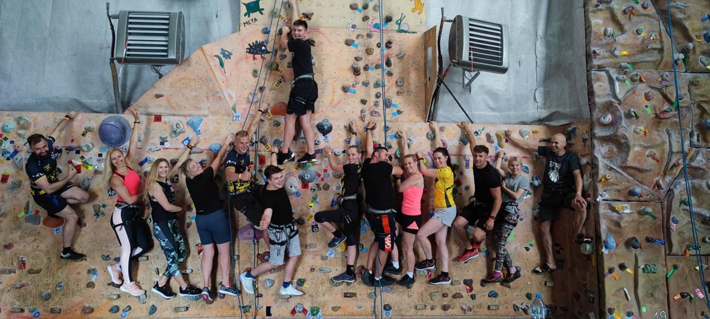 Wspinaczka na ściance impreza sportowa