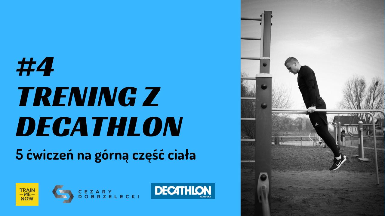 ćwiczenia na górną część ciała z Decathlonem