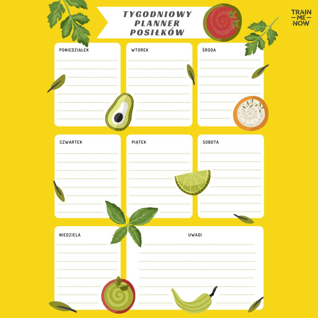 jak zaplanować jedzenie na tydzień planer dieta niskowęglowodanowa